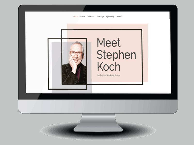 Stephen Koch author website